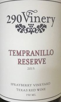290 Vinery Res Tempranillo Image